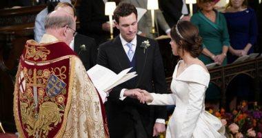 صور.. حفل زفاف الأميرة يوجينى حفيدة الملكة إليزابيث فى قلعة وندسور