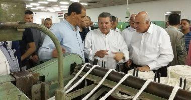 فيديو.. وزير قطاع الأعمال يتفقد مصانع الغزل والنسيج بالمحلة