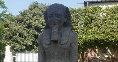 شاهد.. المتحف المصرى الكبير يستقبل تمثالى الملك رمسيس الثانى والإله حورس