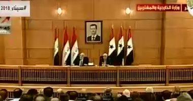 وليد المعلم: سوريا تجاوبت مع جميع المبادرات لحل الأزمة الراهنة