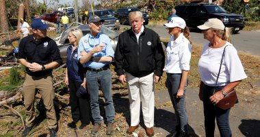 ترامب وزوجته يزوران موقع إعصار مايكل بولاية فلوريدا