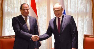 الرئيس عبد الفتاح السيسى ونظيره الروسى