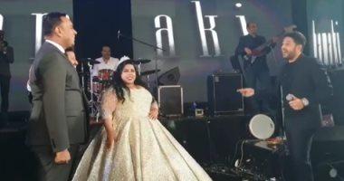 حماقى والليثى فى حفل زفاف شيماء سيف