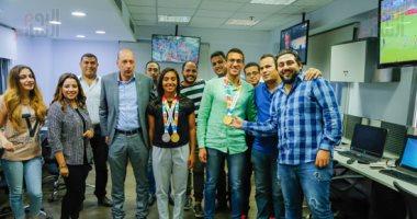 """صور .. """"اليوم السابع"""" يحتفل بأبطال ذهب اوليمبياد الشباب"""