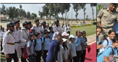 أكاديمية الشرطة تستقبل عدد من طلبة وطالبات إحدى المدارس