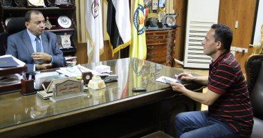 رئيس جامعة بنى سويف خلال حديثه لليوم السابع