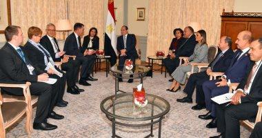 السيسى لوزير التعاون الاقتصادى الألمانى: نتطلع لزيادة الاستثمارات الألمانية بمصر