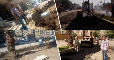 المرور يبدأ الإغلاق الجزئى لشارع الهرم بسبب أعمال نقل مرافق المترو