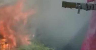 """الحماية المدنية تسيطر على حريق بمخزن """"قش"""" فى الشرقية"""