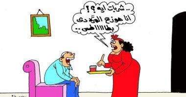 البطاطس بدلا من الشربات حال فوز الأهلى بدورى الأبطال فى كاريكاتير اليوم السابع