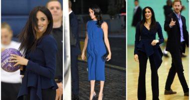 شاهد كيف استخدمت ميجان ماركل الأزياء لإخفاء علامات الحمل فى الشهور الأولى