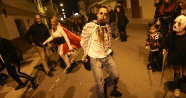 """""""ليلة الرعب"""".. الأشباح تنتشر فى شوارع إسبانيا احتفالا بـ""""الهالوين"""""""