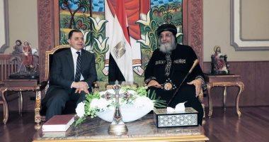 """برلمانى: زيارة """"توفيق"""" لــ""""تواضروس"""" تؤكد ثأر الشرطة من الإرهابيين"""