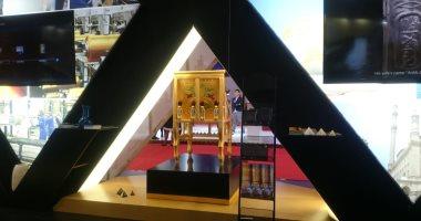 """""""اليوم السابع"""" داخل الجناح المصرى فى معرض شنغهاى الدولى للواردات"""