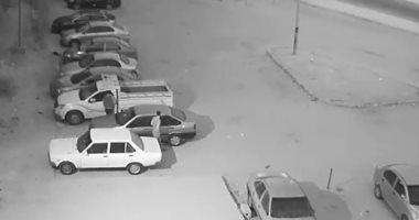 قارئ يشارك بفيديو لسرقة سيارته فى أكتوبر.. ويؤكد: الحوادث متكررة