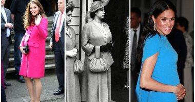 من إليزابيث لميجان ماركل.. شاهد أزياء الحمل للعائلة الملكية على مر التاريخ