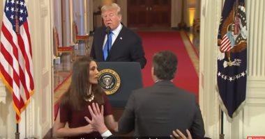 شاهد.. كيف سخرت شبكة CNN من الرئيس الأمريكى بعد معركة المؤتمر الصحفى
