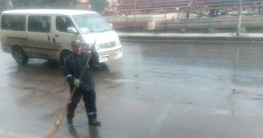 """صور .. أمطار رعدية غزيرة فى مناطق متفرقة بالاسكندرية فى نوة """"المكنسة"""""""