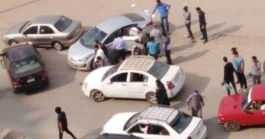 قارئ يشارك بصور حادث اصطدام سيارة دراجة طفل بالنزهة الجديدة