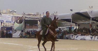 انطلاق فعاليات اليوم الثانى لمهرجان الخيول العربية بالمنوفية بمشاركة 132حصانا