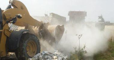 """"""" أمن الغربية """" يؤمن إزالة 39 حالة تعدى على الرقعة الزراعية بالمحلة"""