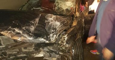نجاة كابونجا لاعب الإنتاج الحربى من الموت بأعجوبة فى حادث سيارة مروع