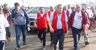 """محافظ الاسكندرية يطلق مهرجان رياضى فى إطار مبادرة القضاء على """"فيروس سى"""""""
