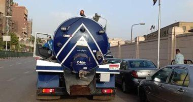 صور.. انتشار معدات شفط المياه بالقاهرة والجيزة لمواجهة الأمطار المحتملة