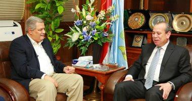 محافظ كفر الشيخ يستقبل رئيس مجلس إدارة الشركة القابضة لمياه الشرب