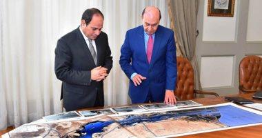 الرئيس عبد الفتاح السيسي والفريق مهاب مميش