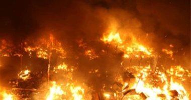 نشوب حريق بشونة قش أرز بقرية بأولاد صقر فى الشرقية