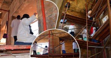 فيديو.. إجراء أعمال الترميم بمعبد الأبت لافتتاحه للجمهور لأول مرة