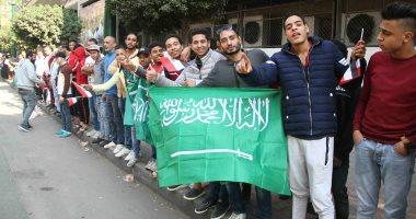 مواطنون يحتشدون بميدان التحرير احتفالا بزيارة الأمير محمد بن سلمان