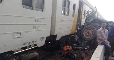 ارتفاع عدد الوفيات فى حادث قطار بنها ميت غمر لـ٤ وفيات