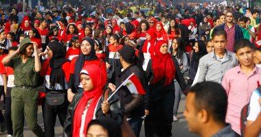 تجمع الآلاف بميدان عابدين لبدء ماراثون مشى للحث على المشاركة باستفتاء الدستور