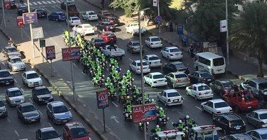 فيديو.. رجال الانتشار السريع يتحركون في شوارع الجيزة لمنع الزحام