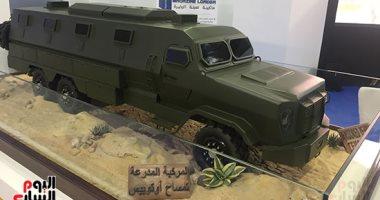 جناح مصر  بمعرض إيديكس 2018 يتزين بمنتجات الصناعة الحربية الوطنية