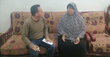 أرملة ببنى سويف تطالب بإعادة بناء منزلها المحترق وشراء جهاز عرس ابنتها