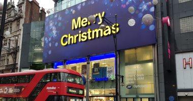 """لندن تتزين لاستقبال احتفالات """"الكريسماس"""""""
