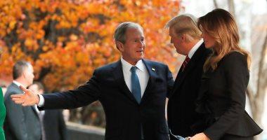 ترامب وقرينته ميلانيا يزوران أسرة جورج بوش لتقديم واجب العزاء