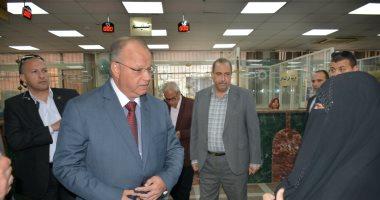 محافظ القاهرة يتفقد مراكز تقديم الخدمات التكنولوجية للمواطنين بمجمع شبرا