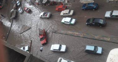 سقوط أمطار متوسطة على مناطق متفرقة بالقاهرة والجيزة