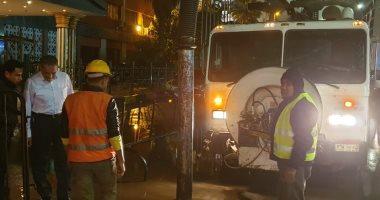 محافظ القليوبية يتابع أعمال رفع تراكمات المياه بشوارع مدن المحافظة