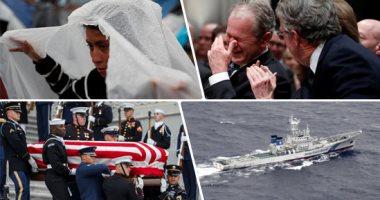 صور.. العالم هذا الصباح.. انطلاق مراسم جنازة الرئيس الأمريكى الأسبق جورج بوش الأب.. بدء البحث عن مفقودين بعد اصطدام طائرتين أمريكيتين قبالة اليابان.. ومهاجرون بالمكسيك يحاولون العبور للولايات المتحدة