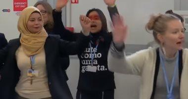 """وبينهما """"حجاب""""..احتجاجات نسائية على هامش قمة المناخ فى بولندا"""