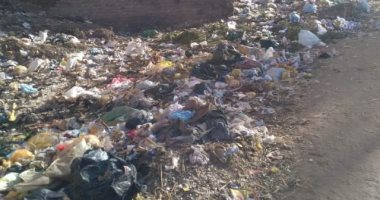 قارئ يطالب بإزالة القمامة المتراكمة أمام مجمع مدارس ادفا بسوهاج