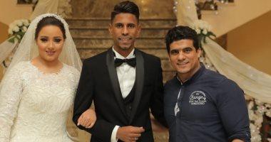 صلاح ريكو نجم المقاصة يحتفل بزفافه في حضور نجوم الكرة