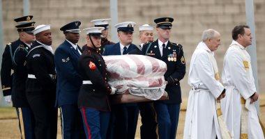 جثمان الرئيس الأمريكى الأسبق جورج بوش الأب يصل مثواه الأخير