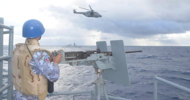 القوات البحرية تنفذ تدريبات مشتركة بالبحر المتوسط مع القوات البريطانية والإيطالية