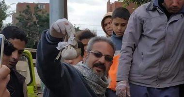 صور.. العثور على أعمال سحر وسرنجات ماكس فى حملة تنظيف مقابر المنوفية